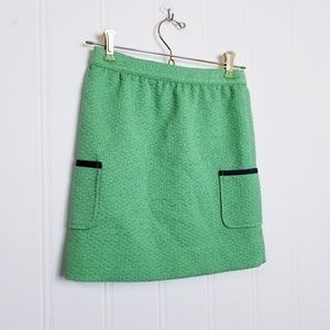 Brooks Brothers Girls Skirt Green Blue Trim Pocket
